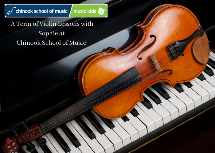 Giveaway no. 9: One-year of violin lessons with Sophie at Chinook School of Music!