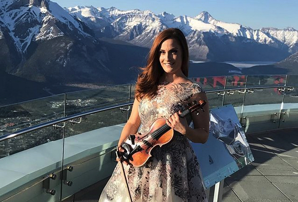 Live in Banff! The highest altitude my violin has ever been….