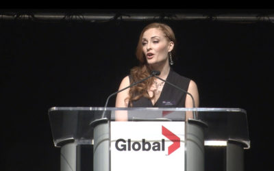 Sophie honored with a Global Television Award- Women of Vision 2014